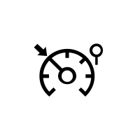 Hız limitörü ve hız regülatörü ikaz ışıkları.